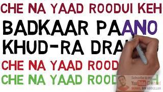 Badkaar Paano Khod rah Drakho   Naseem Ul Haque    Lyrics Sochi Kraal