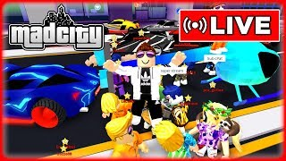💰 MONEY SAVING FOR HELICOPTERS - MAD CITY ROBLOX 🔴 LIVE