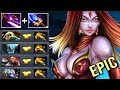 EPIC Pure Damage Scepter Lina Mid vs 4x BKB Cancer Team Disaster Game by MuChaa Dota 2