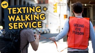 New Yorkers React to Texting and Walking Service