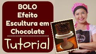 Bolo Efeito Escultura em Chocolate - Confeitaria Online Oficial