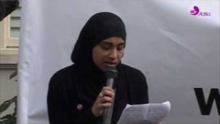 JFAC London Solidarity Rally - Sultanah Parvin - Aafia Siddiqui Day March 28th 2010