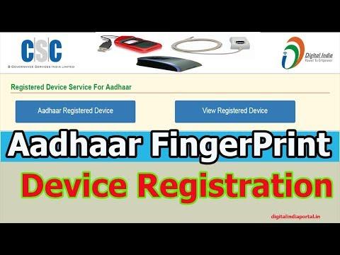Adhaar FingerPrint Device Registration in CSC Portal