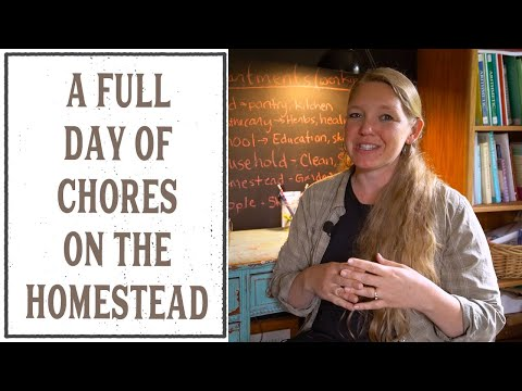 A FULL DAY OF CHORES ON THE HOMESTEAD - HOME MANAGEMENT #13