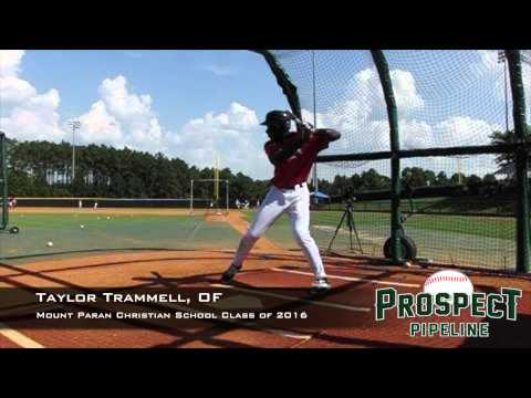 Taylor Trammell, OF, Mount Paran Christian School, Swing Mechanics at 200 fps