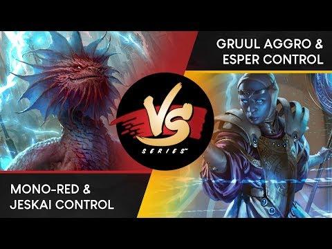 VS Live! | Mono-Red & Jeskai Control VS Gruul Aggro & Esper Control | Duo Standard | Match 3
