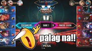 ToxiCancers VS Finesse Legion | may palag nga kaya si Alucard? MESA Tournament S3