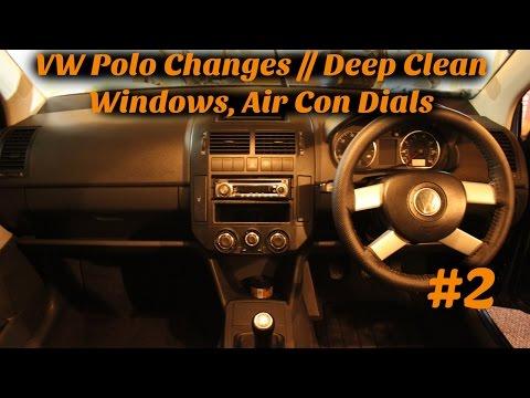 VW Polo Changes // new car mats, deep cleaning windows, head unit, air con dials - #2