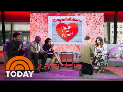 Former Marine Shares Story Of Meeting High School Sweetheart, Proposes On-Air | TODAY
