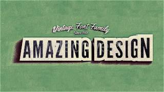 Kinetic Typography Template | Vintage Retro Style | After Effects Template | VideoHive Project