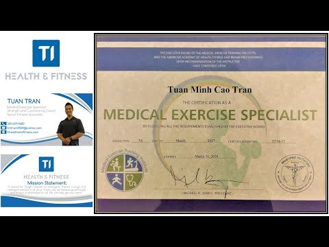 AAHFRP Medical Exercise Specialist By Tuan Tran, Founder of TI Health and Fitness