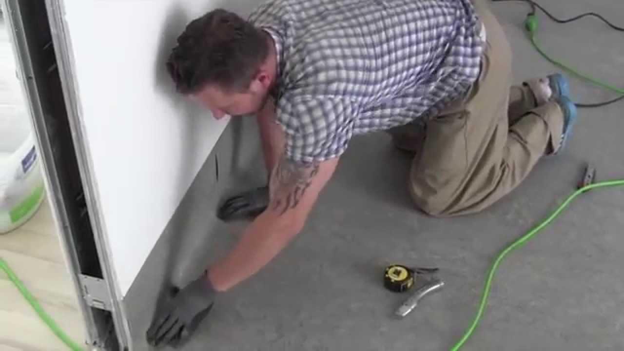 Gut gemocht Linoleum mit Hohlkehlen (Hochzug) - YouTube GV74