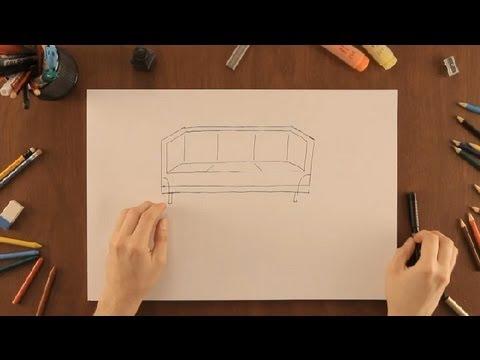 C mo dibujar un sof dibujos de la naturaleza youtube for Dibujar un mueble en 3d