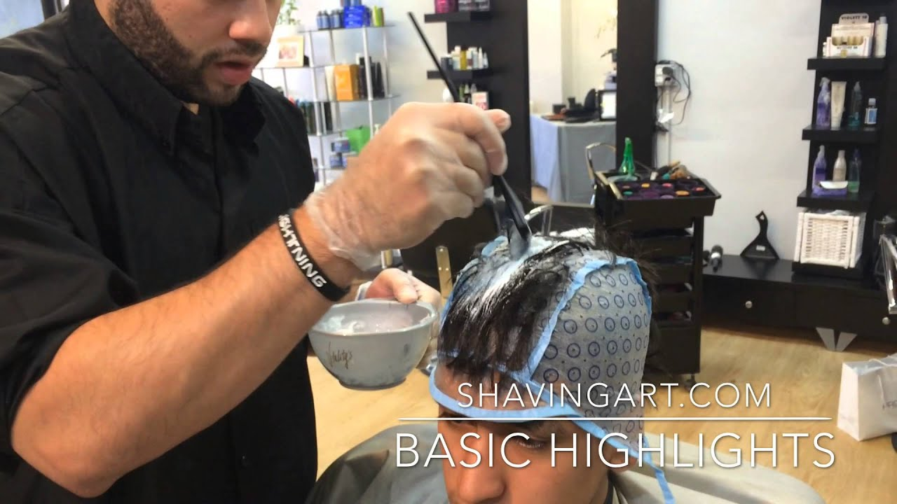How To Highlight Men S Hair Mohawk Highlights Tutorial