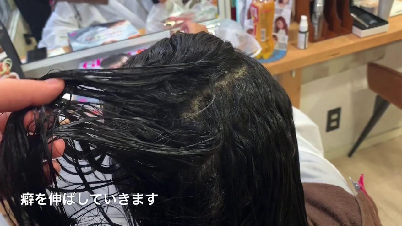 原宿・表参道の美容室【AnFye】癖が強くても縮毛矯正でしっかり伸ばしていきます