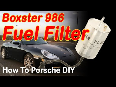 How to replace the fuel filter on a Porsche Boxster 986 Fuel Filter Change DIY