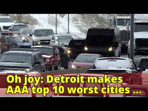 Oh joy: Detroit makes AAA top 10 worst cities for travel Thursday