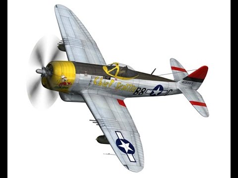 3D Model Republic P-47D Thunderbolt Chief Seattle at 3DExport.com
