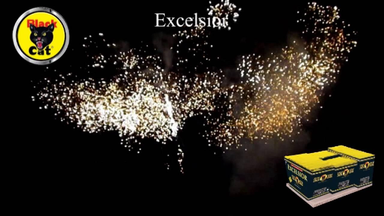 Excelsior 186 Shot CE Compound Cake by Black Cat Fireworks