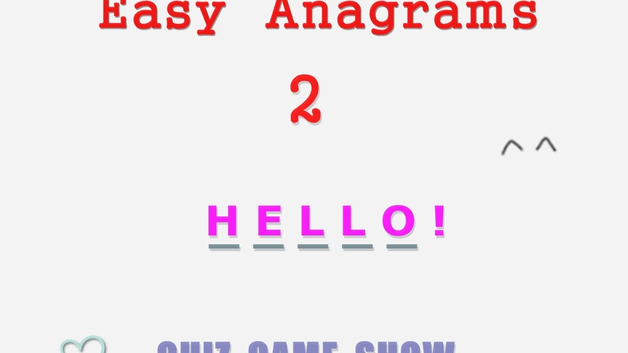 small resolution of Easy Anagrams 2 - Game quiz - YouTube
