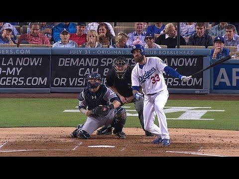 SD@LAD: Van Slyke Plates Puig With Single To Right