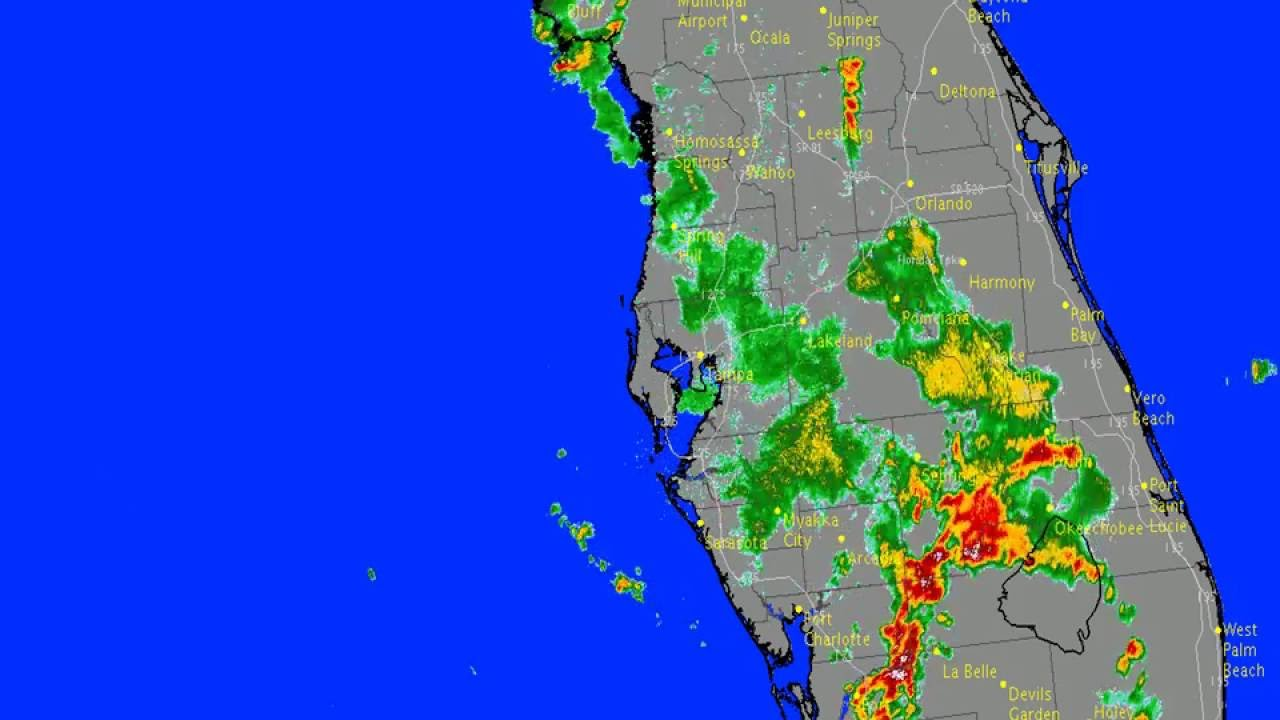 NWS Tampa Bay Area Radar Summary For June Th YouTube - Tampa bay doppler weather