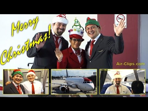 TACA A320 HAPPY HOLIDAYS SPECIAL Business Class El Salvador to Miami [AirClips full flight series]