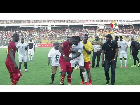 Gyan, Gasmila and Afriyie Acquah dance to Gasmila's Telemo