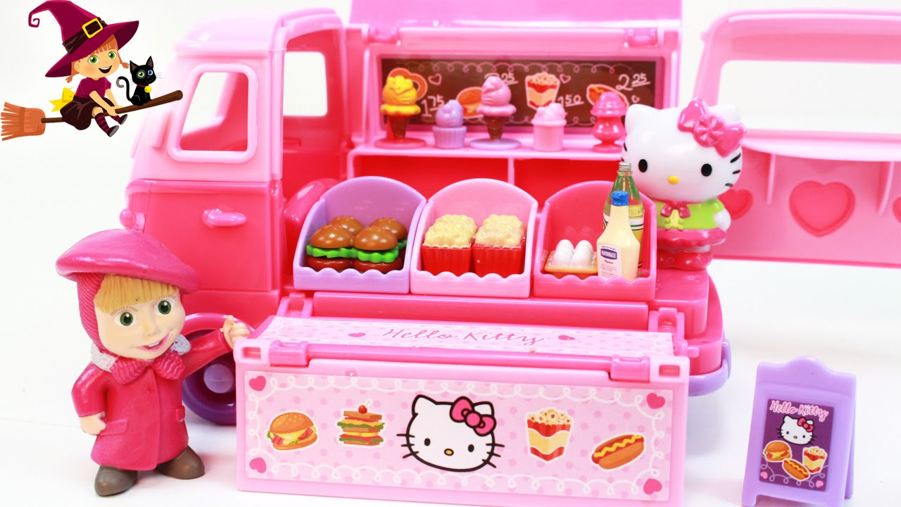 Furgoneta de comiditas de hello kitty youtube for Utensilios de cocina hello kitty