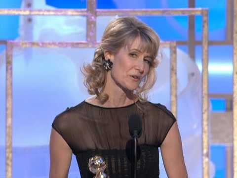 Laura Dern Wins Best Supporting Actress TV Movie - Golden Globes 2009