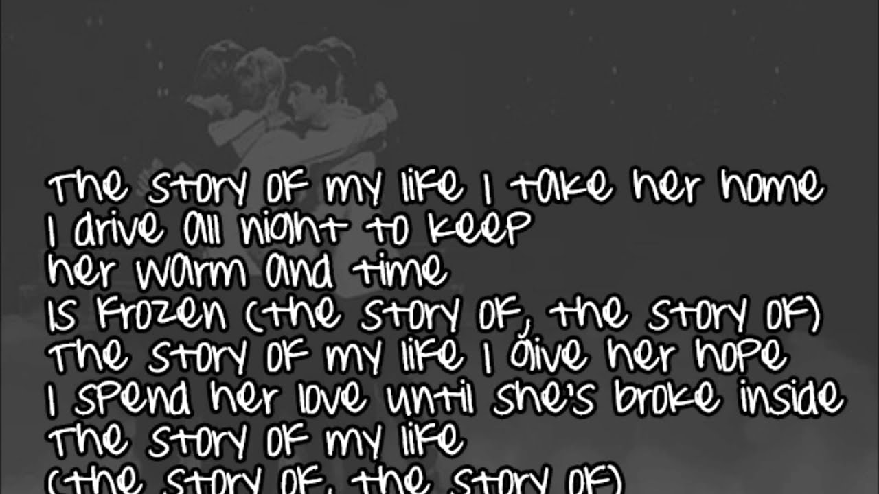 One Direction - Story of my life (Lyrics + Pictures) - YouTube