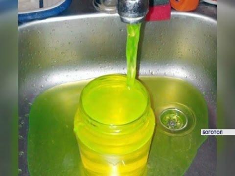 Из кранов жителей Боготола с пятницы течет зеленая вода (Новости 13.03.17)