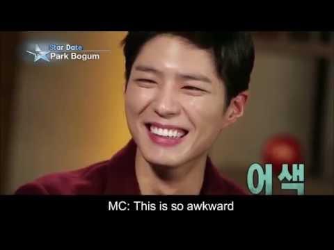 [FAKESUB] Park Bo Gum talking about Kim Yoo Jung   Star Date   박보검 & 김유정