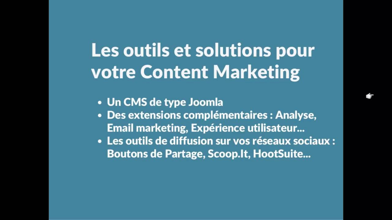 Content Marketing - Quels outils / solutions ? Par quels moyens ?