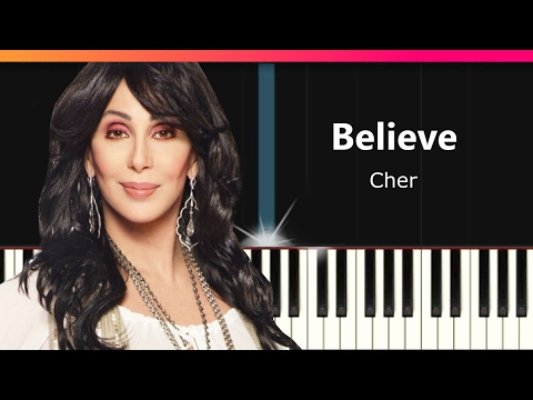 Cher  Believe EASY Piano Tutorial  Chords  How To Play