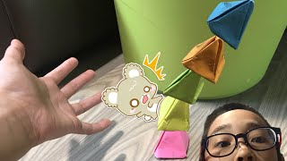 How to build a exploding origami Tower pyramid