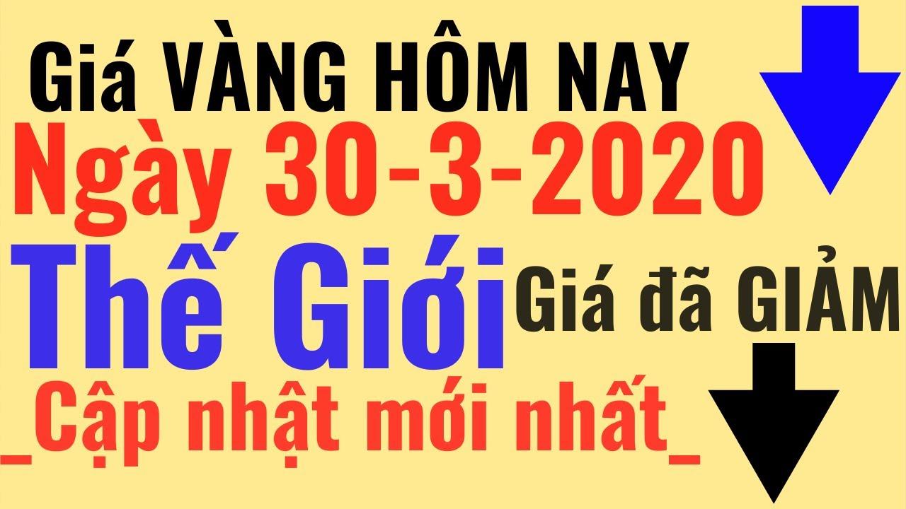 Giá VÀNG Hôm Nay 30/3 vàng Thế Giới giảm, Bảo Tín Minh Châu SJC 24k Ý Mi Hồng 9999 online trực tuyến