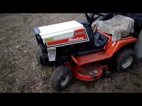 1989 Simplicity 4212 12H P 36 Cut Lawn Tractor YouTube
