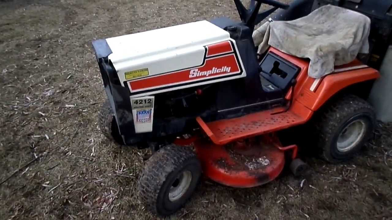Simplicity 12h P 36 Cut Lawn Tractor