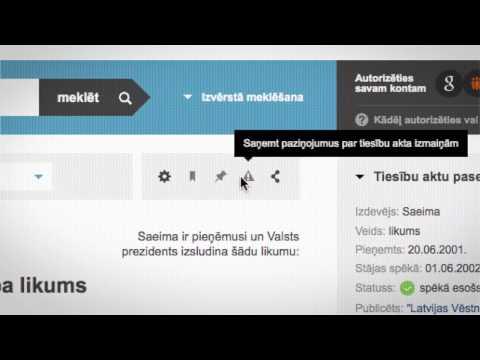 Video Guide to the Latvian Legislation Portal (www.likumi.lv)