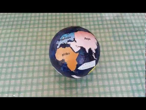 Plastik Top Ile Dunya Modeli Yapimi Diy How To Make The World