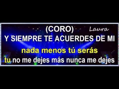 Laura Pausini Inolvidable con letra karaoke lyrics (tono 0)