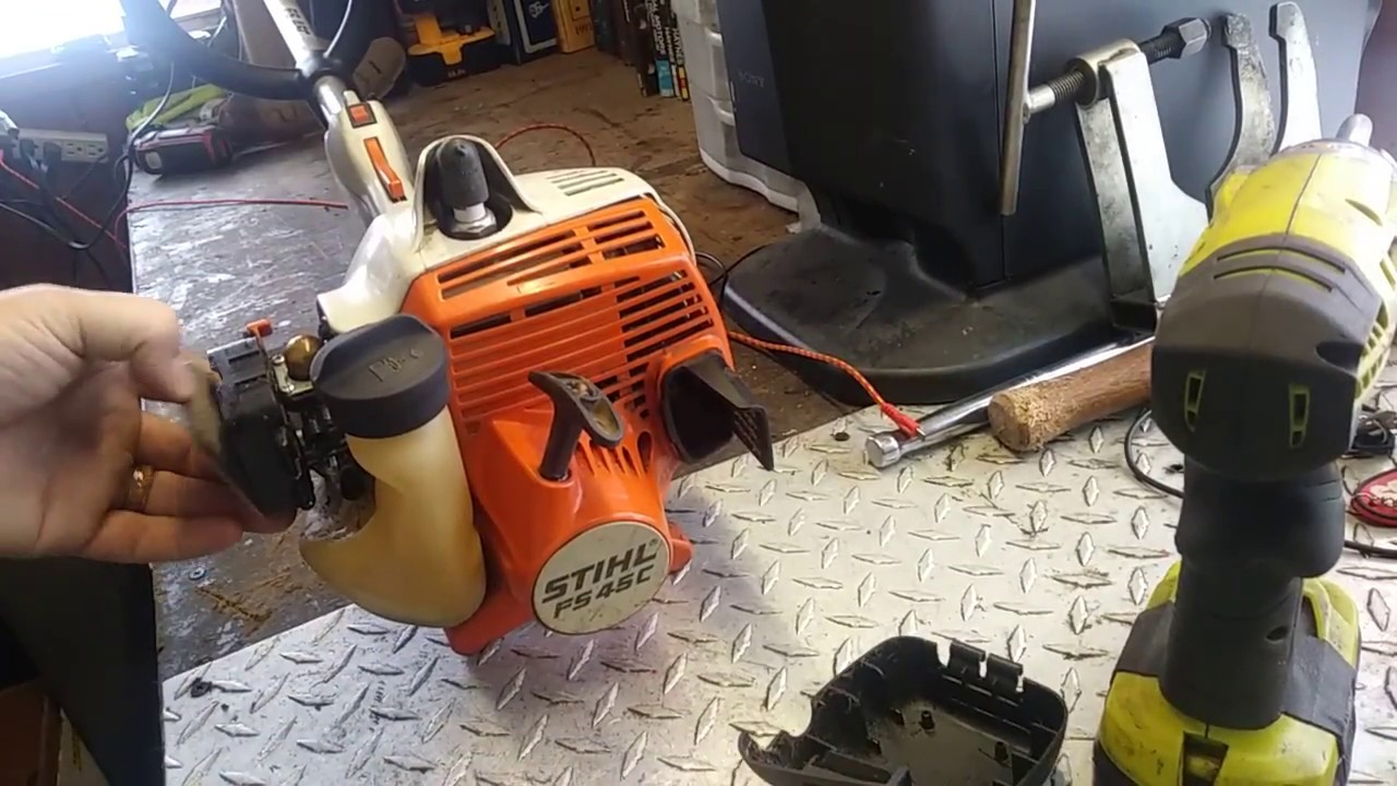 Carburetor replacement on stihl fs 45c string trimmer