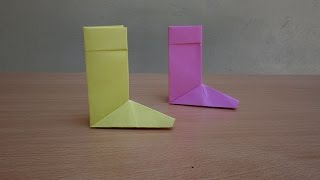 How to Make a Paper Boot - Easy Tutorials