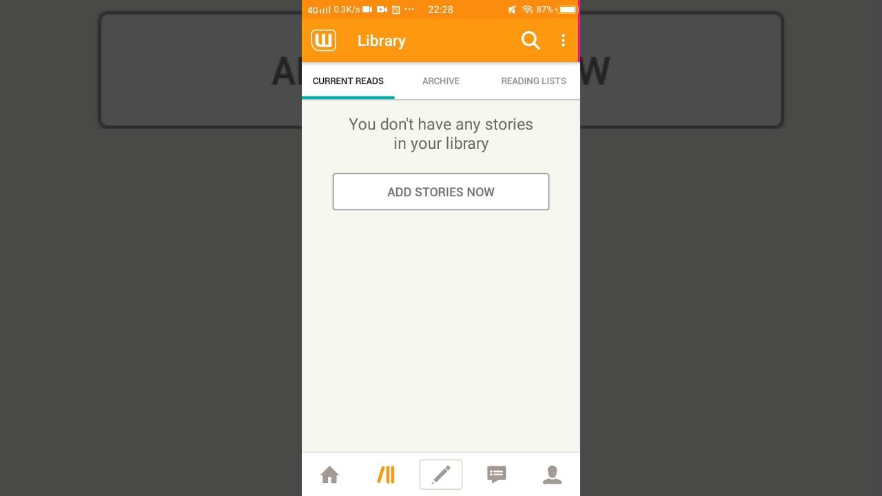 Cara membaca Wattpad secara offline