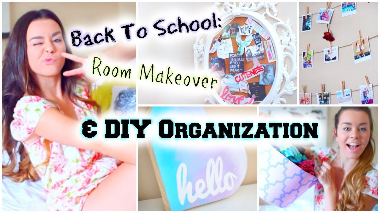 Back To School Room Makeover! DIY Organization U0026 Decor!   YouTube