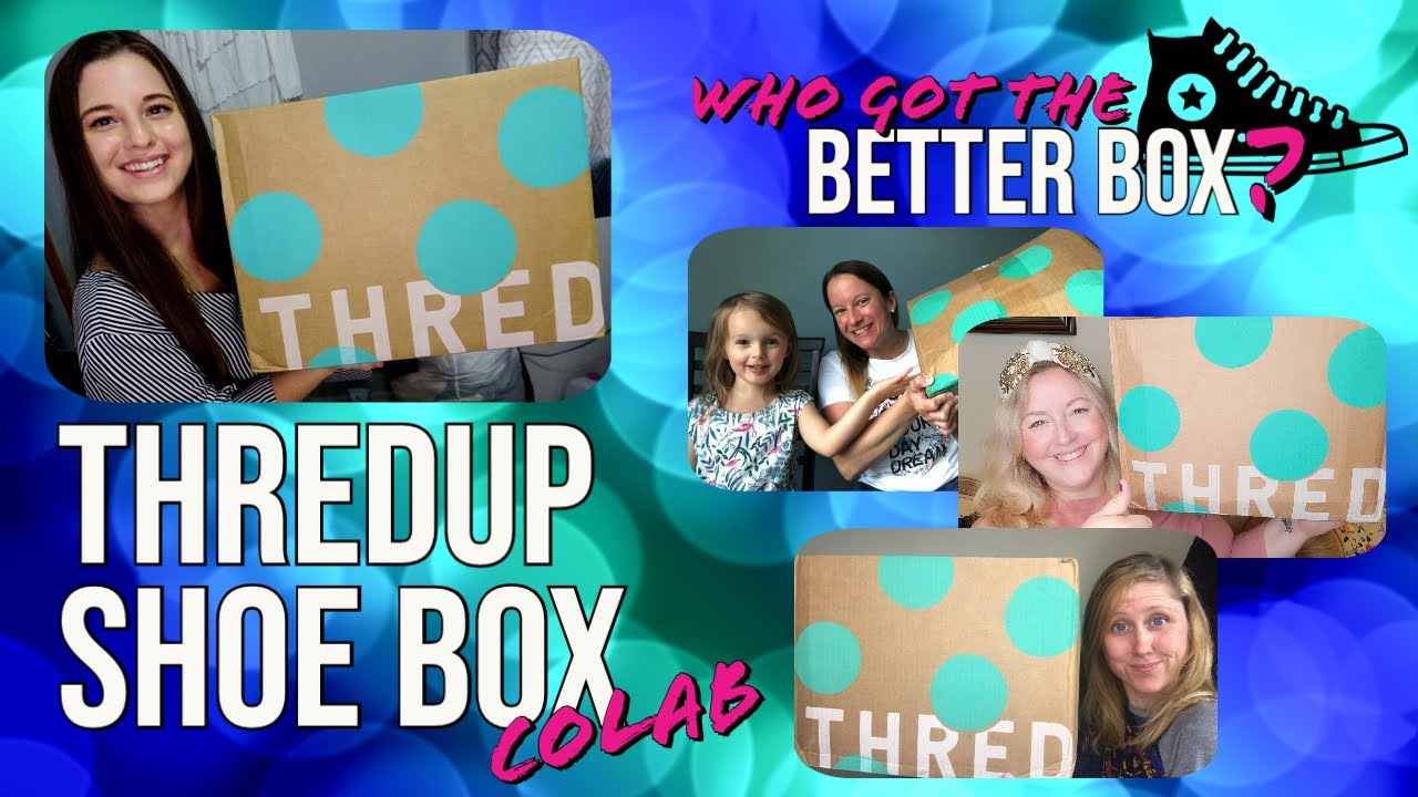 Opening up $90 ThredUp Shoe Boxes | Who was sent the BEST MYSTERY BOX?