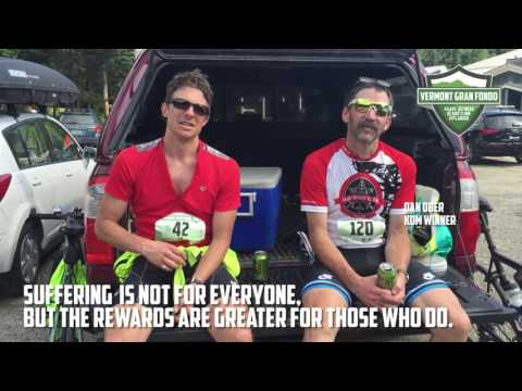 Post ride interview at Vermont Gran Fondo