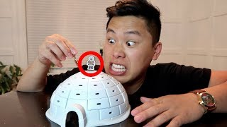 CRAZY ICE IGLOO MAGIC TRICK!!! (99% IMPOSSIBLE TO WIN)