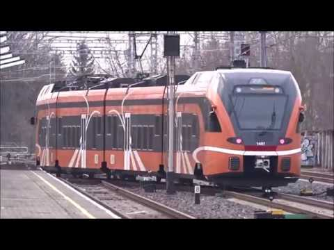Commuter trains at Tallinn, Estonia/Lähijunia Tallinnassa, (Full HD)